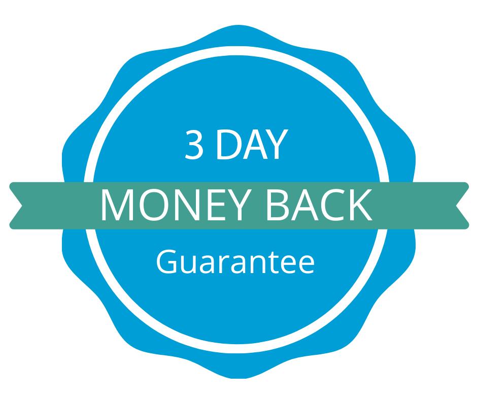 3 Day Money Back Guarantee
